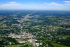 Aerial view of Elizabethtown, Kentucky